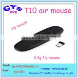 2.4Ghz wireless best full mini keyboard air mouse fly mouse T10 C120 air mouse unique original factory