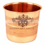 Handmade Pure Copper Glass Cup - 300 ML Serving Water Home Hotel Drinkware Good Health Benefits Yoga, Ayurveda