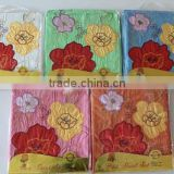 traditional craft sunflower flower embroidered bedding sheet including flat sheet , 2 pillowcase