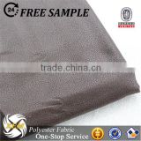 Polyester Bronzed Faux Suede Leather Fabric for Upholstery