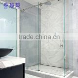 Housing Build Stainless Steel Hardware Acrylic Base Plate Design For Glass Shower Enclosure With Glass Sliding Door