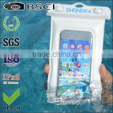 pvc cell phone waterproof bag/for apple iphone waterproof pvc phone bag/waterproof cell phone waterproof bag