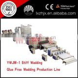 nonwoven polyester staple fiber wadding line, themo-bonded wadding padding production line
