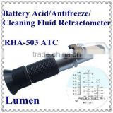 Hot Sale! Portable Hand-held Battery Acid/Antifreeze/Cleaning Fluid Refractometer RHA-503 ATC