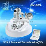 2017 hot new products nv905 5IN1 micro dermabrasion machine with cold&hot treatment and skin scrubber