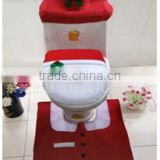 Christmas holiday decorations Toilet Seat Cover Mat Set Bathroom sets warm toilet sets