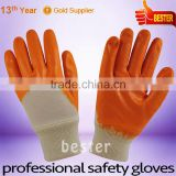 Wholesale special receiving nitrile coated gloves
