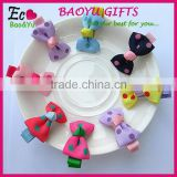 Factory wholesale New plastic bows shaped kids Hair clips