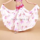 STELISY 2015 beautiful design floral printed ladies elegant bellydance skirt