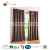 decor home curtains designs 100% polyester window curtain,blackout curtain,eyelets curtain with well designed