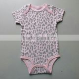 Organic Cotton Printed Pattern From China New Born Baby Clothes Romper
