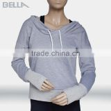 High quality custom logo design soft pullover women athletic hoodies gym wear fitness hoodies