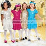 3-8 years old children's product the whole body Sequin baby dress girl party dress Shining Princess Dress