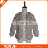 Supplier Soft 100% Wool Handmade Sweater for Babies