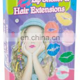DIY Feather hair clip-in kids hair extension set
