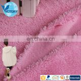 Fantastic 100 Polyester Knitted Solid color Seherpa Fleece Fabric For Blankets And Sofa Cover