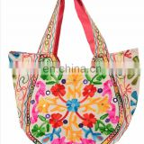 Indian Embroidered Kutch Style Shoulder Bag New Handbag Tribal Tote Bag embroidered Hmong Tote Bag Purse large ethnic wholesale