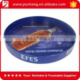 Printing logo round plastic serving tray for beer