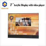 Acrylic display stand with Customized video Greeting card/video player for business advertsing/presentation