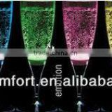 Colorful Wedding Champagne flutes with led light