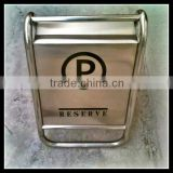 Customize Reserve Parking Stainless Steels_Parking floor stand sign_ Pedestal Signs Stand_Portable Hotel Metal Parking Reserve