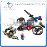 Mini Qute Senye Marvel Avenger super hero Batman spiderman Helicopter building block action figures educational toy NO.SY 315