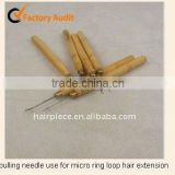 micro rings loop tool loop threader pulling needle used with hair plier and beads for human hair feather