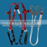 full body harness with energy absorbing rope lanyard