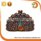 Crystal beaded purse crystal beaded new design clutch bags hard box crystal beaded clutch