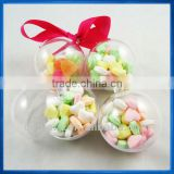 Clear Bauble for Candy Packaging,Hanging Capsule