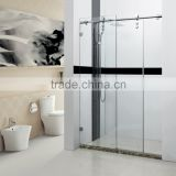 Bathroom Tempered Glass Floor Standing Shower Screen                                                                         Quality Choice