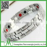 Stainless steel 4in1 Bio Elements Energy Balance Bracelet For Man