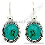 turquoise gemstone earrings,wholesale sterling silver jewelry,wholesale silver wire handmade earrings pair