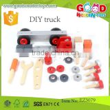 Kids Construction Set Educational Assembling Toys Wooden DIY Truck