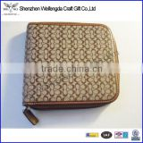Factory High Quality Fashion Design Zipper Leather Handmade CD Cases
