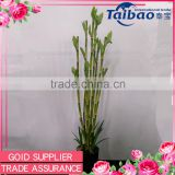 "32"" real looking room decoration artificial lucky bamboo wholesale with plastic pot"