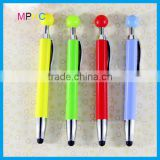 Plastic top ball style Promotional screen touch stylus pens