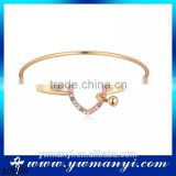 Charm best selling products gold plated costume jewelry love rhinestone bangle A0008                                                                         Quality Choice