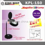 5X KING BEST 360 Degree Rotation USB DC 5V Table Lamps Super-Bright ECO Eye Protection LED Light Desktop Magnifier Magnifier Light Skin Analyser
