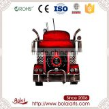 Hot sales red jalopy shape black steam car fashion wall clock