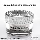 Double Wall Acrylic Diamond Cap Jar for Cosmetic Packing