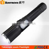 Bright Light 7 Modes XML T6 Zoomable USB Warning 18650 Rechargeable Focus Zoom Led Torch Flashlight