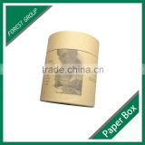 NEW DESIGN HANDMADE RECYCLE CUSTOMIZED KRAFTPAPER TUBE&ROUND BOX &CYLINDER PACKAGING