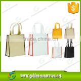 PP non woven shopping bag/gift polypropylene non-woven tote bag/ad tnt non woven grocery bag with customized brand logo