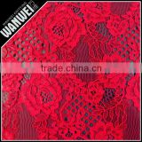 love heart sharp fashion coral color guipure multi color lace fabric of high quality 2012