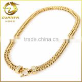 good quality men bracelet chain gold plated stainless steel link chain