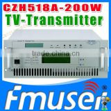 CZH6518A-200W Single-channel Analog TV Transmitter UHF 13-48 Channel mmds tv transmitter
