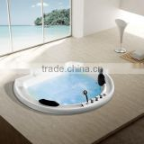 Foshan factory Luxury Drop-in bathtub, acrylic Luxurious Massage Bathtub With Thermostatic Faucets