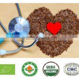 Golden and brown flax seeds / linseeds from Organic
