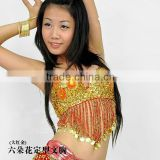 SWEGAL SGBDB13048 1color yellowand flower women 2013fashion lady women belly dance sexy bra